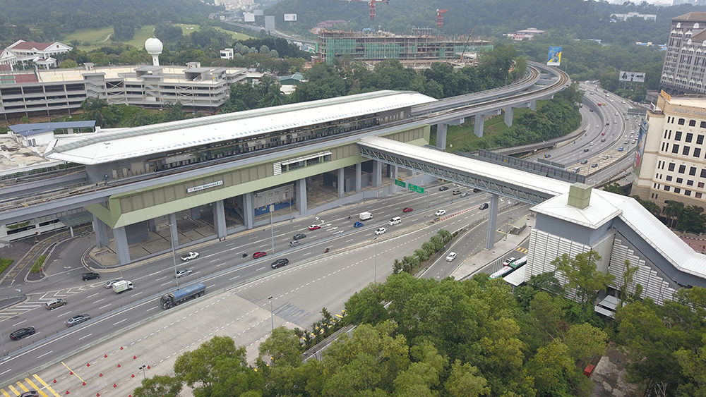 Project:MRT Damansara <br />Material:C.Extreme <br />Application: PVdF Roofing