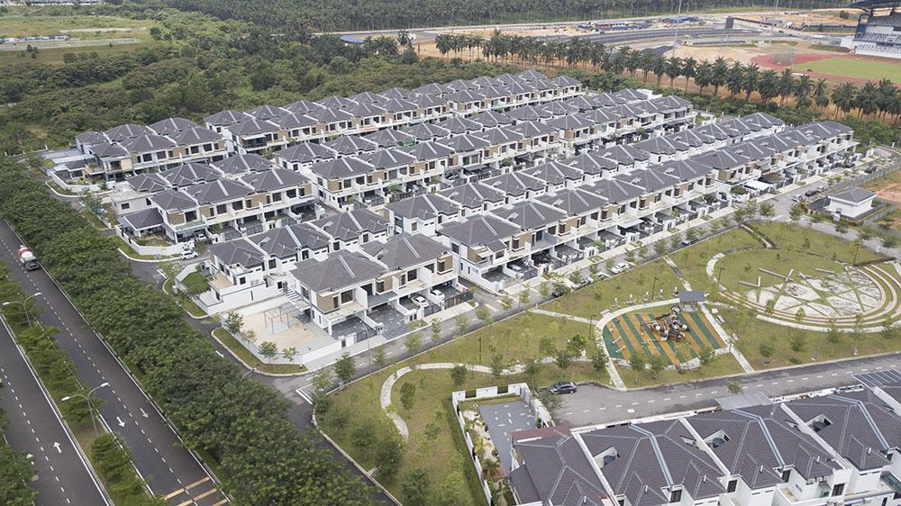 Project: Semi D's & Bangalow Residency, Johor Bahru <br />Material:T-Maz Oak <br />Application: Truss